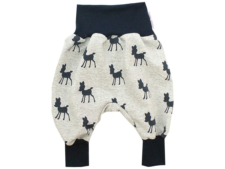 Kleine K/önige Pumphose Baby Sweathose M/ädchen /· Modell REH Bambi Feline grau Marine /· /Ökotex 100 Zertifiziert /· Gr/ö/ßen 50-164