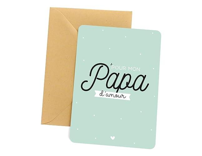 Carte papa - Pour mon papa d amour   Carte pour papa, carte de voeux ... d0920992cea