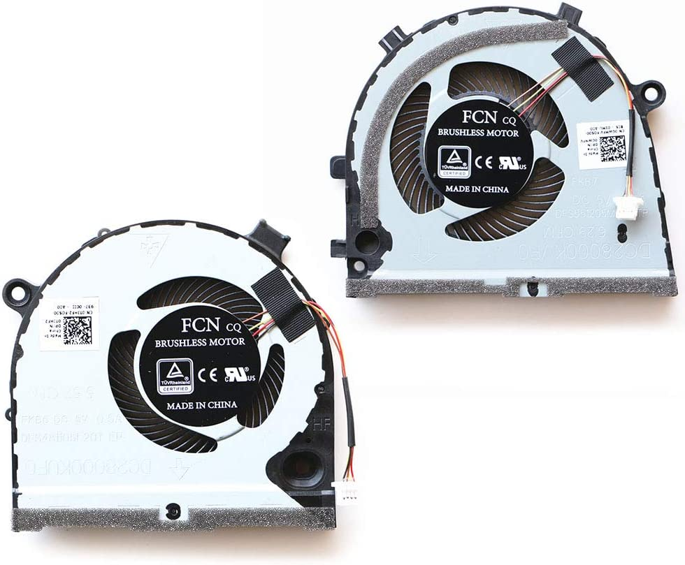 New Replacement CPU + GPU Fan for Dell G3-3579 G3-3779 G5-5587 Gaming Laptop 0GWMFV 0TJHF2