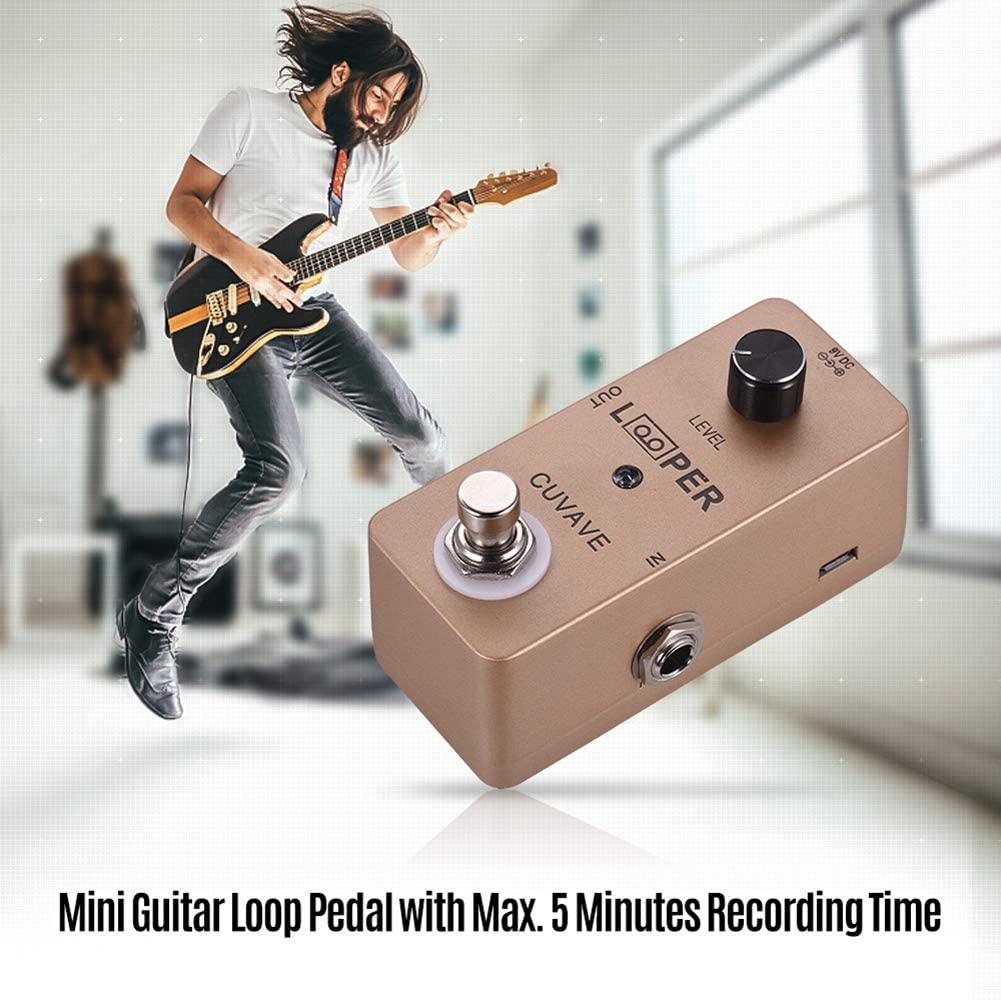 SunYueY Mini Guitarra Looper 5 Minutos Tiempo de grabación ...