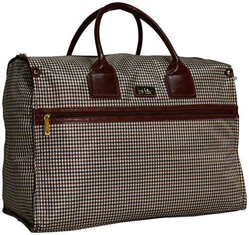 Sets Plaid Luggage (Nicole Miller New York Luggage Taylor Box Bag (Brown Plaid))