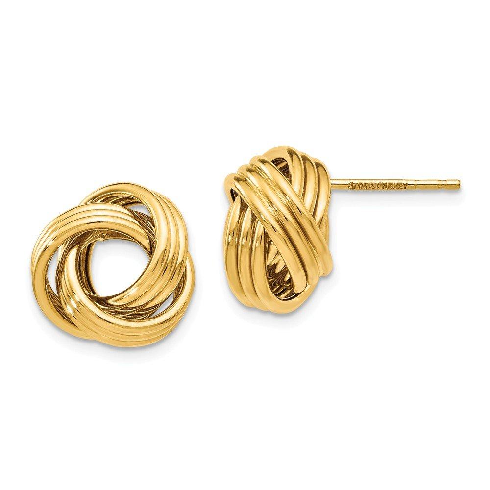 Best Designer Jewelry Leslie's 14k Polished Love Knot Earrings