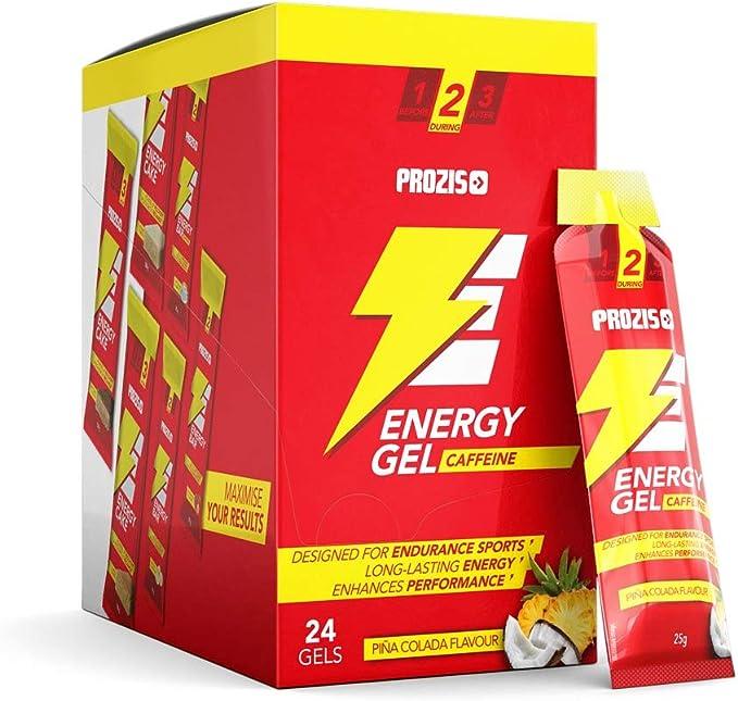 Prozis 24 x Energy Gel + Caffeine Fácil de Llevar Fuente de ...