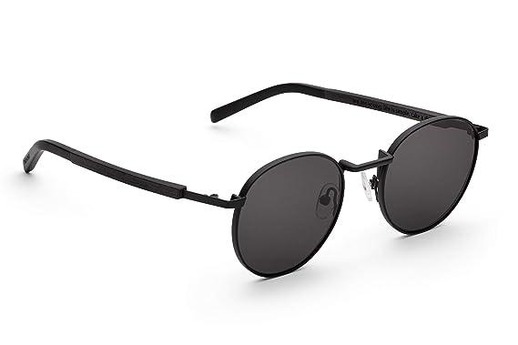 TAKE A SHOT - Gafas de sol redondas de madera, unisex ...