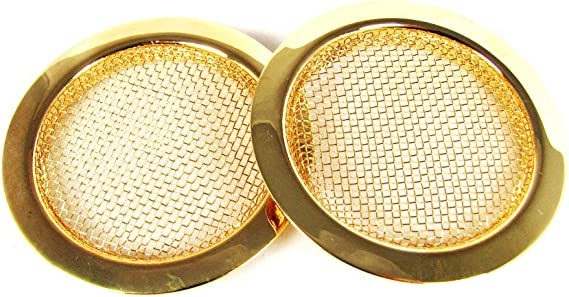 2pc. Gold Screened Sound Hole Inserts for Resonator Guitar