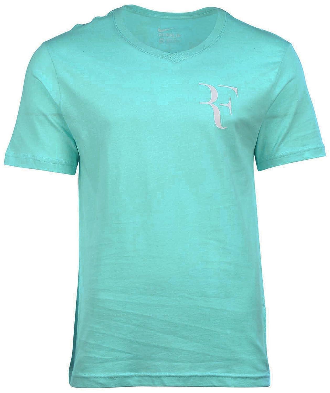 Nike Mens Roger Federer Tennis V-Neck Shirt (Copa Blue) B015HE4CVGBlue Small 34-36\