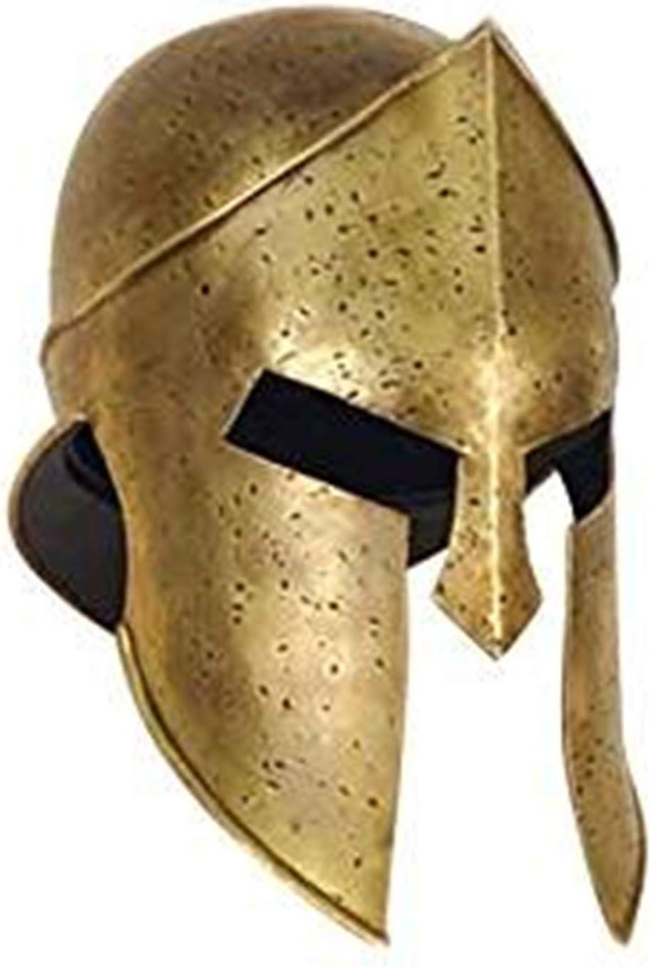 300 griego espartano casco – oficial réplica – latón envejecido – Talla única: Amazon.es: Deportes y aire libre