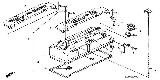 Amazon Com Genuine Honda 12310 Pcx 010 Cylinder Head Cover Automotive