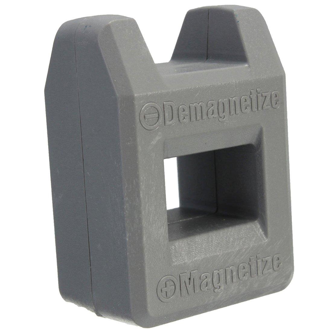 SODIAL(R) Screwdriver Magnetizer Degaussing Demagnetizer Magnetic Practical Pick Up Tool Color:Gray