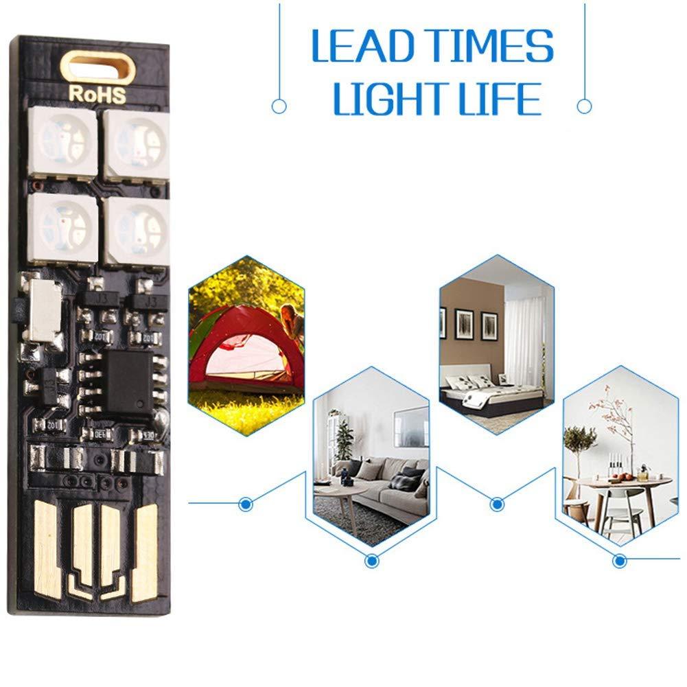 42 RGB 4-LEDs Ambiance Lumi/ères Table Nuit Interrupteur F/ête Changeante USB R/étro/éclairage Mini 7-couleur D/écor Maison 12 Comme Image Show 4.2mm