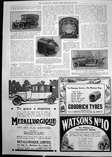 old-print Print Brolt Car Lighting Dynamo Hotchkiss Chassis Walter Winans 1912 458P240 (Chassis Lighting)