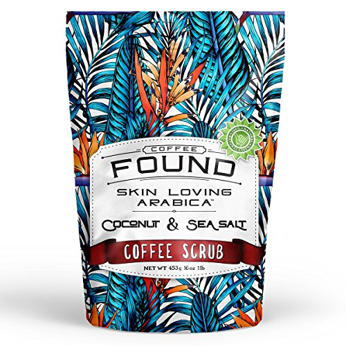 100% Natural Deep Exfoliating Arabica Coffee Body Scrub 16oz With Coconut, Sea Salt. Infused With Potent All Natural Essential Oils. Anti - Cellulite, Stretch Marks, Spider Veins and (Pink Sugar Deodorant Spray)