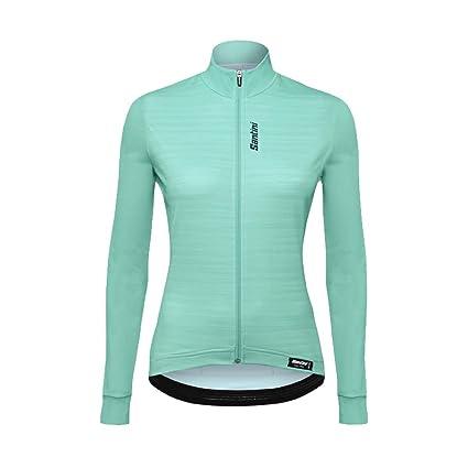 Amazon.com   Santini Black 365 Scia Womens Long Sleeved Cycling ... bb1813fc8