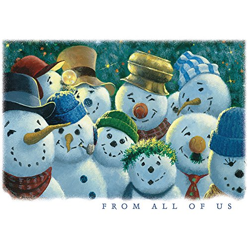 - JAM PAPER Blank Holiday Cards Set with Matching Envelopes - From All of Us Snowmen - 25/Pack