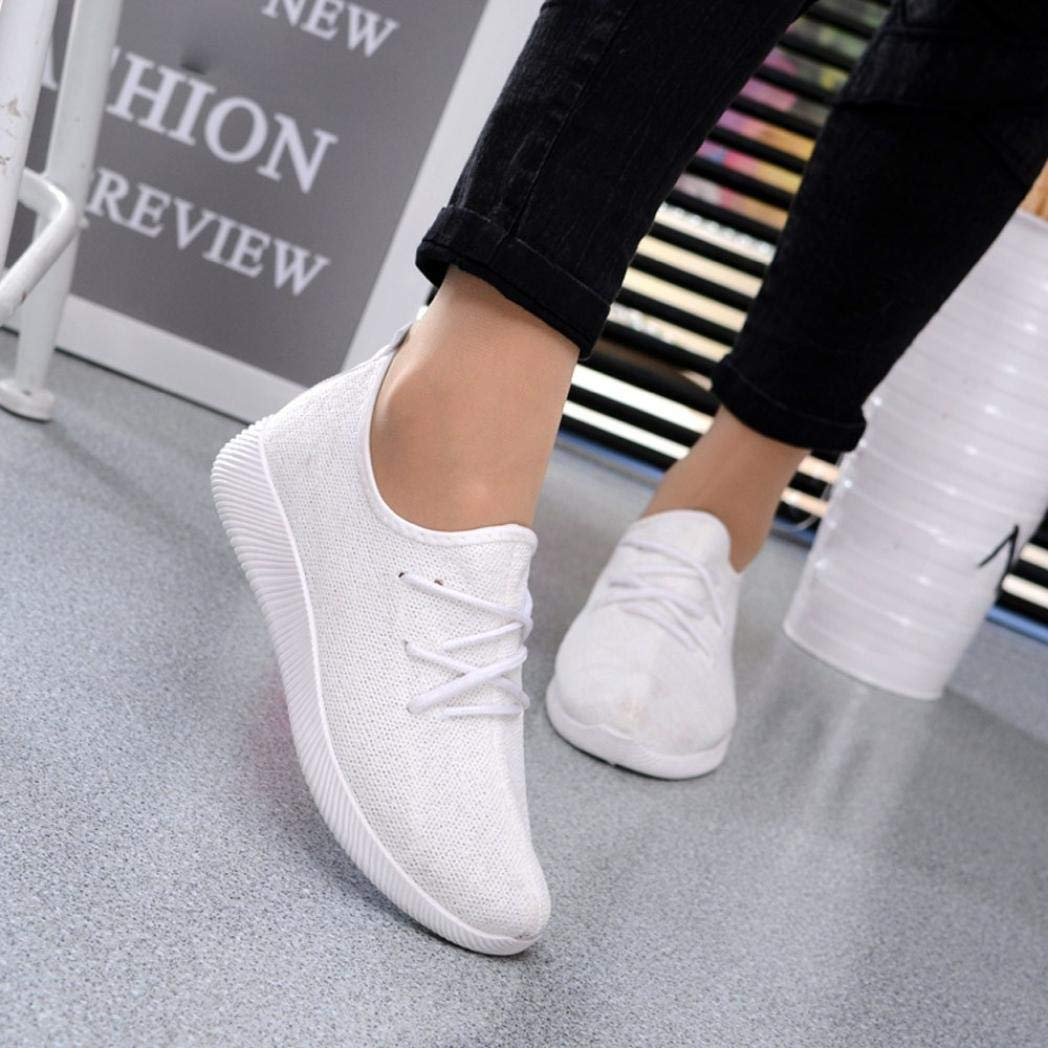 e43d0fd7327b Gyoume Women Sports Shoes Ankle Boots Slip On Shoes Sports Shoes Candy  Color Student Net Shoe