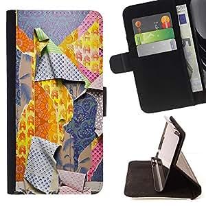 For Samsung Galaxy A5 ( A5000 ) 2014 Version Case , Patrones Ripped Moda Profunda- la tarjeta de Crédito Slots PU Funda de cuero Monedero caso cubierta de piel