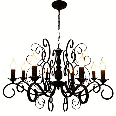31 European Vintage Metal Candles Living Room Chandelier Luxury