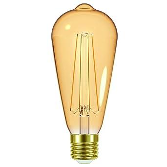 Prolight 600200310 Bombilla LED vintage tipo Edison, cristal, blanco