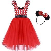IWEMEK Princesa Disfraz de Minnie para Bebé Niña Navidad de los Lunares del Vestido del Tutú de Tul Cumpleaños Fantasía…