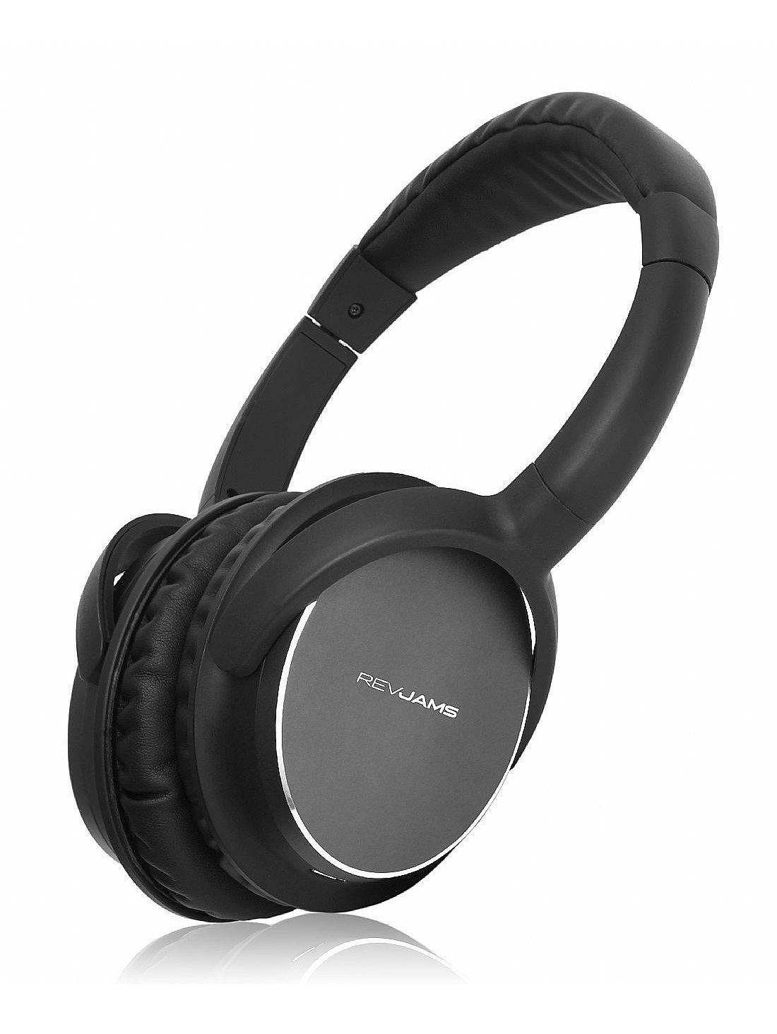 RevJams Studio Vibe - Auriculares inalámbricos Bluetooth con Sonido de alta fidelidad sobre la oreja Diseño - cancelación de ruido - 20 horas de batería: ...