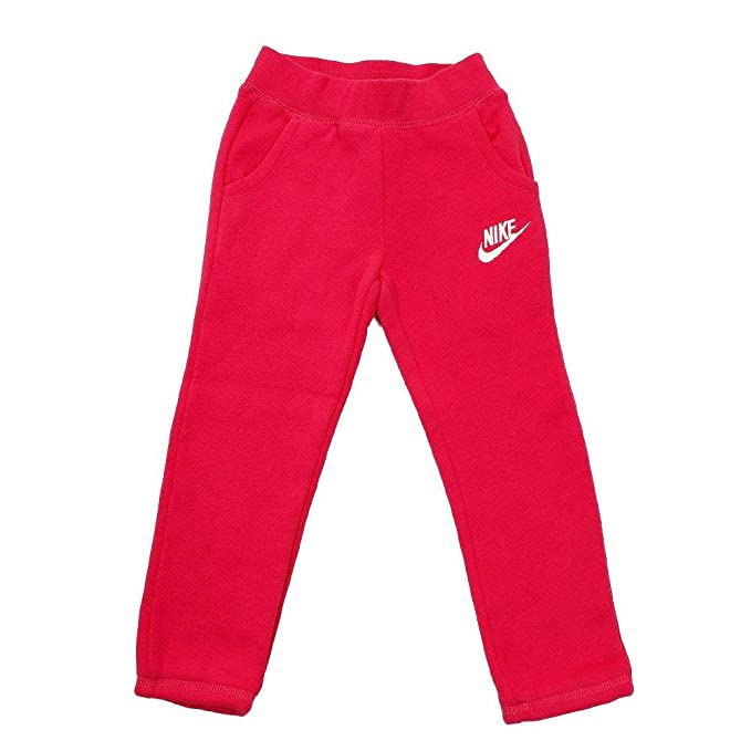 85f1117254640 Amazon.com: Nike Little Girl's Fleece Pants Rush Pink: Clothing