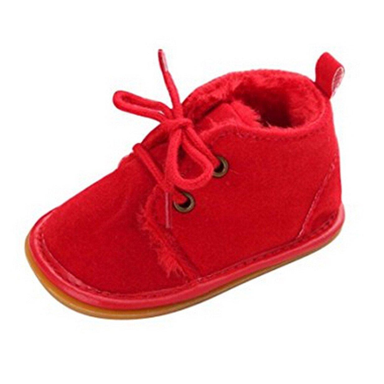 Lalang Bottes de Neige Bébé Fille Garçon Bottines Chaussures Premiers Pas Chaud Hiver Chaussons, 0-18 Mois
