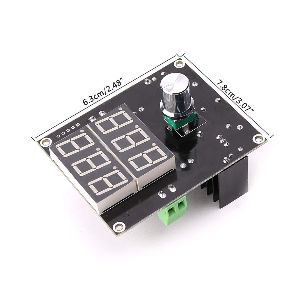 BIlinli Pantalla Digital LED Regulador de Voltaje M/ódulo de Fuente de alimentaci/ón 5-36V A 1.3-32V Tablero Buck Placa de Circuito del m/ódulo Digital DC Step Down