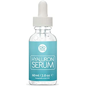 Bioniva Hyaluronic Acid Serum with Vitamin C, Green Tea & Vitamin E. Natural anti-aging Collagen boosting Face Serum with Organic Ingredients.