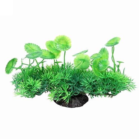 YOSEMITE planta artificial verde hierba plantas de agua para pecera acuario decoración planta estanque