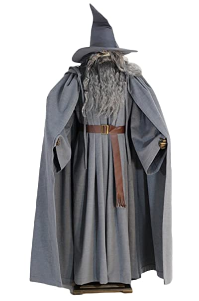 Amazon.com: xcostume Gandalf Costume Wig Hat and Beard ...