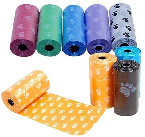 duolaam 5 pcs perro Garras impreso bolsas de basura (color ...