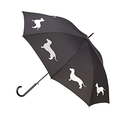 San Francisco Umbrella Co. Dachshund Design Premium Rain Umbrella - 190T Pongee Polyester Canopy – Strong Handle & Steel Shaft – Ideal For Men & Women – Perfect Gift …