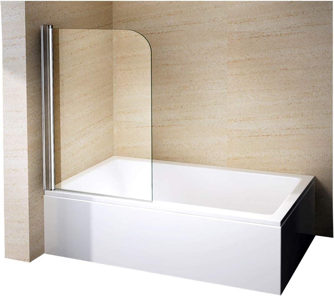 Mampara de ducha pared bañera Nano EchtGlas EX201 – 800 x 1400 x 6 mm: Amazon.es: Hogar