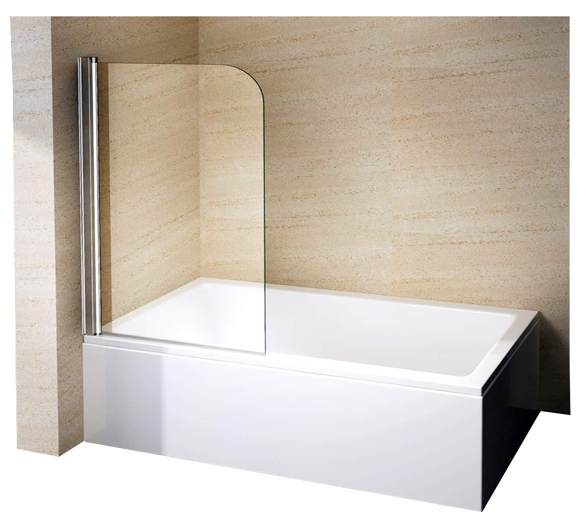 Mampara de ducha pared bañera Nano EchtGlas EX201 – 800 x 1400 x 6 ...