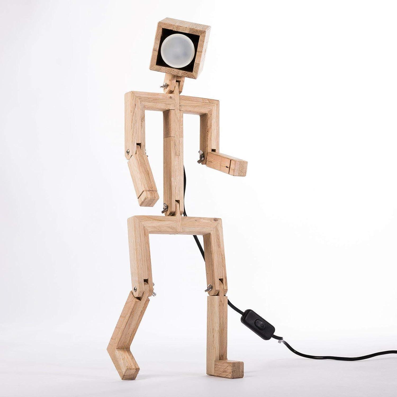 JAFFU Lámpara de diseño articulada de madera de roble ...