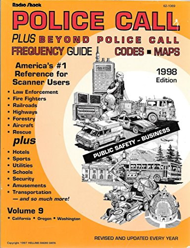 Radio Shack Police Call Plus Beyond Police Call Frequency Guide Codes & Maps 1998 Edition