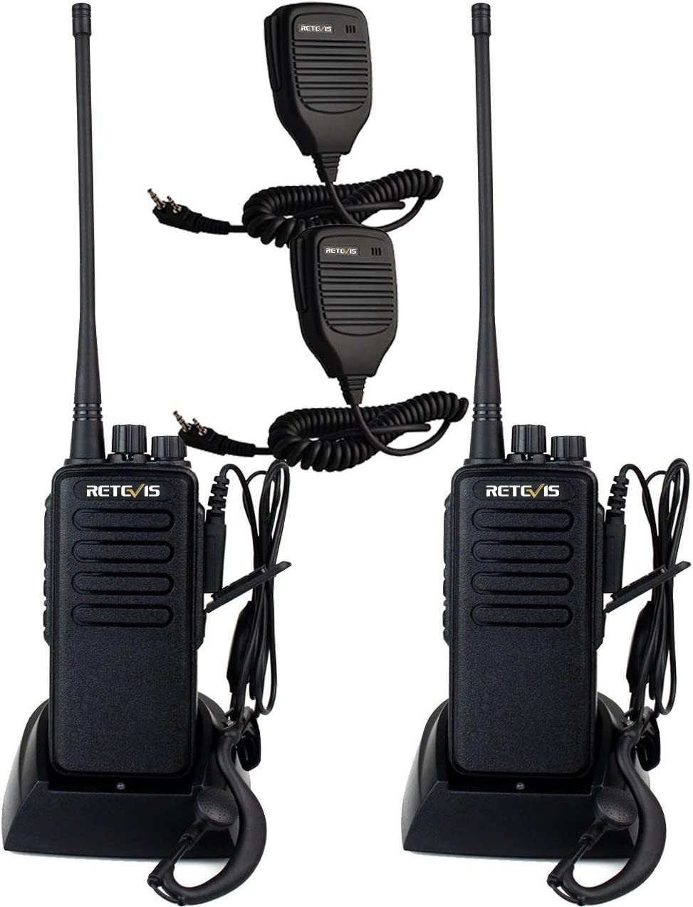 2* Retevis RT1 Walkie Talkies UHF400~520MHz 10W 3000mAh Scan VOX 2Way Radios US