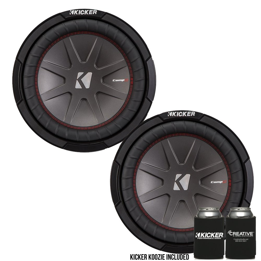 kicker 43cwr104 10 dual voice coil 4 ohm comp r woofers. Black Bedroom Furniture Sets. Home Design Ideas