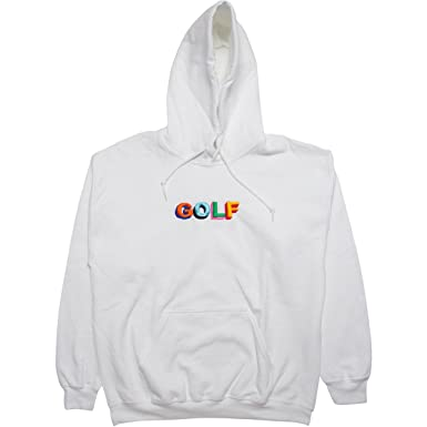 91c4c8314b67 Six Panel Studio Unofficial Golf Hoodie - White Tyler The Creator  (X-Large)  Amazon.co.uk  Clothing
