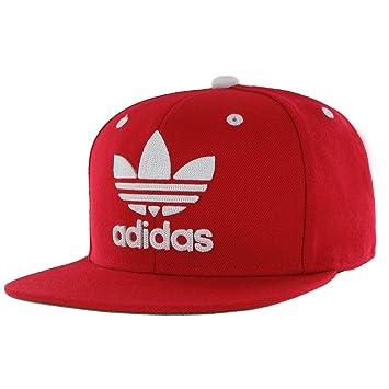 5acc8da1687bd1 Adidas ORIGINALS Mens Men's Originals Snapback Flatbrim Cap, Scarlet/White,  One Size