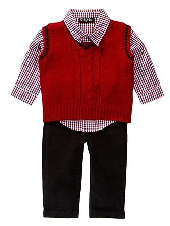af07d85098bf Amazon.com  Only Kids Infant Boys 3 Piece Dress Up Outfit Pants ...
