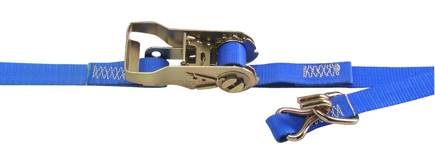 Kinedyne (711281/45PK) 1'' x 12' Utility Cargo Ratchet Strap with Wire Hook and Floating D-Ring