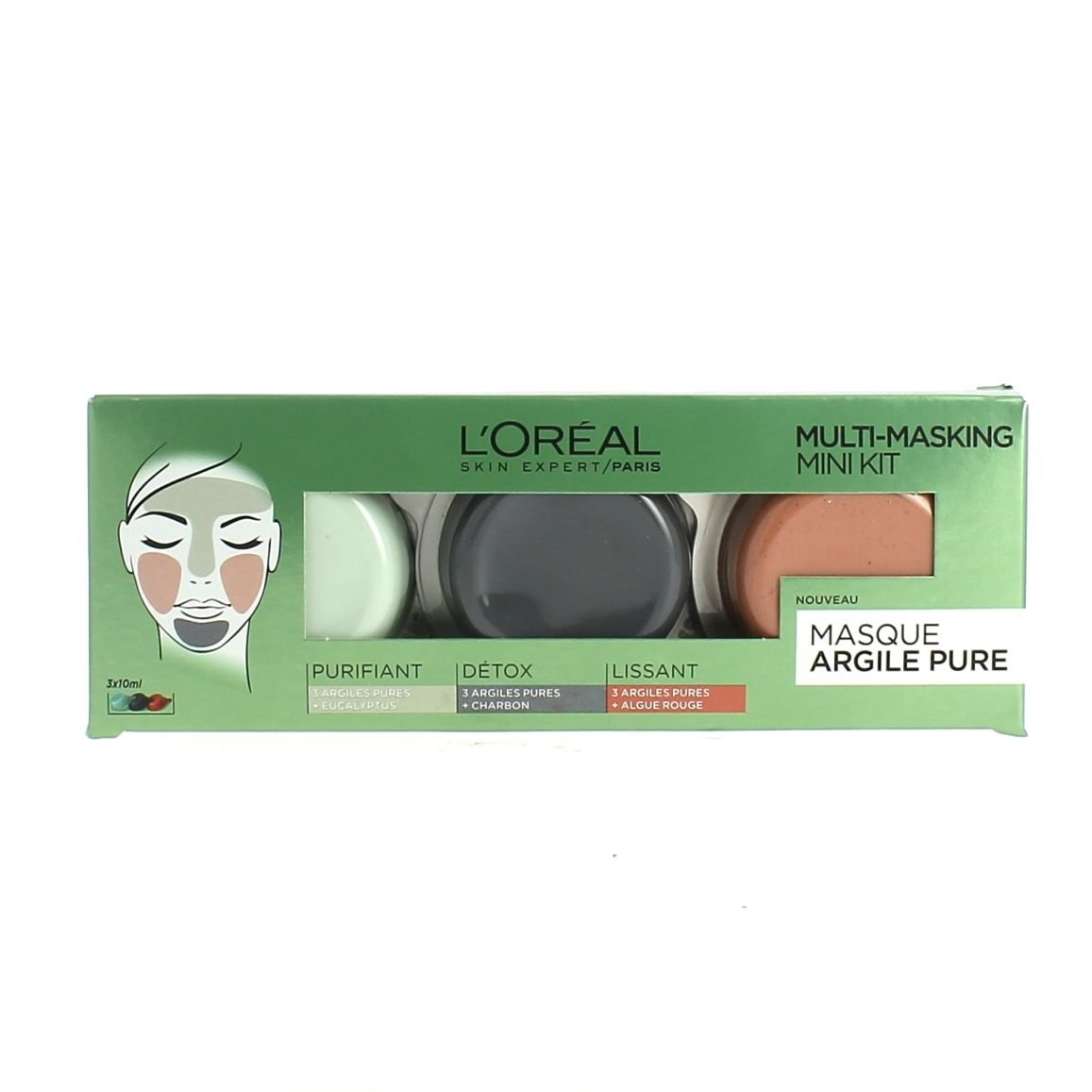 L' oréal Paris Cofanetto argilla Pure multi-masque 3 x 10 ml L' Oréal Paris 3600523356812