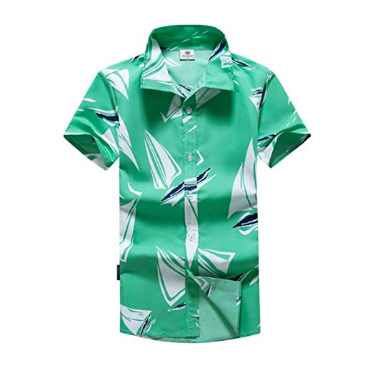 c3a1b102553 Image Unavailable. Image not available for. Color  Hawaiian Shirts for Men  Retro Funny Aloha Party Summer Casual Floral Printed ...