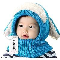 Winter Baby Hats, Winter Cute Hat, Winter Baby Hood Scarf Caps, Invierno Encantadores Niños Niñas Niños Warm Scarf Caps