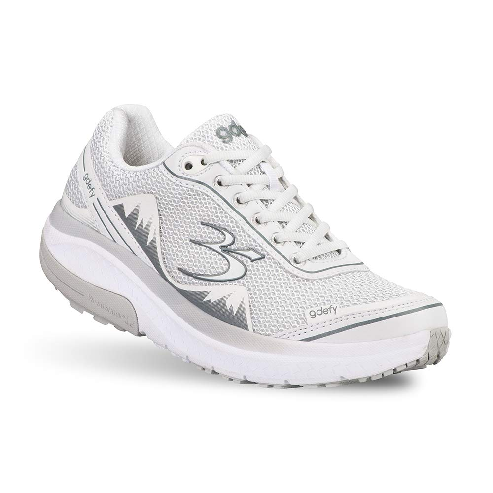 Gravity Defyer Pain Relief Women's G-Defy Mighty Walk Athletic Shoes 6 M US- Shoes for Plantar Fasciitis - White