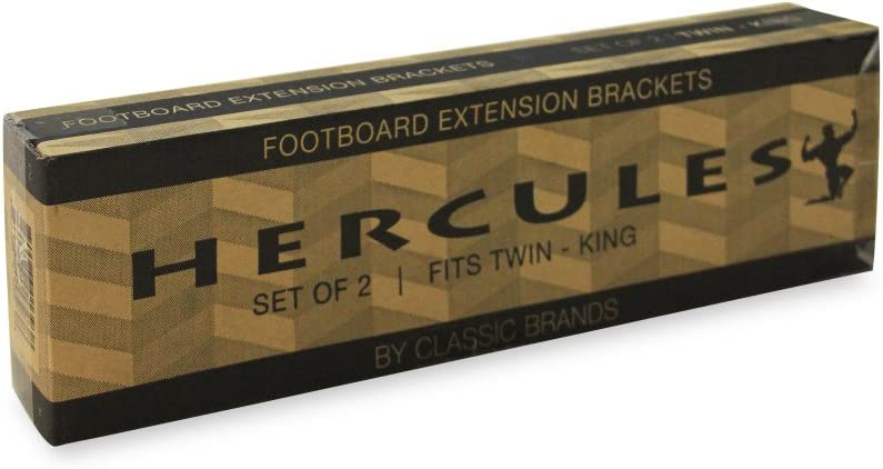 Full Set of 2 and King Fits Twin Queen Classic Brands Hercules Footboard Extension//Extender Brackets