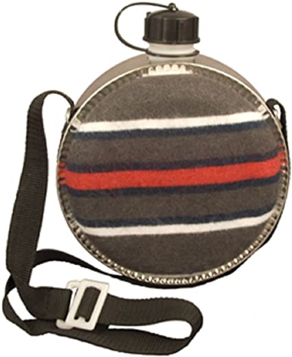 Striped 2 QT Desert Canteen With Carrying Strap