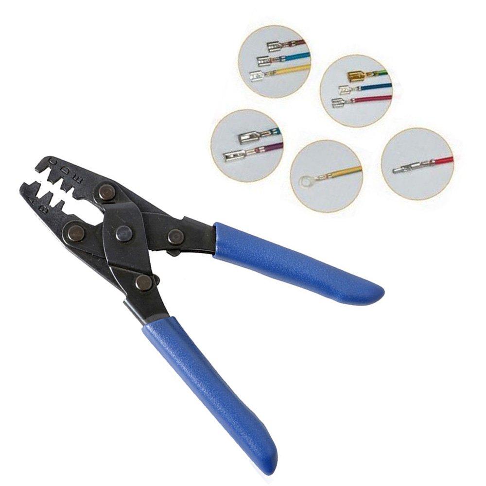 TFCFL Molex Style Delphi/Packard Crimp Tool Wiring Harness Crimping Crimper  Open Barrel 22-10 AWG - - Amazon.com