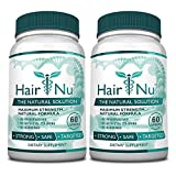 HairNu 500mcg Biotin and 20 Vitamins and Nutrients for hair Growth, 2 Bottles (2 Months Supply)